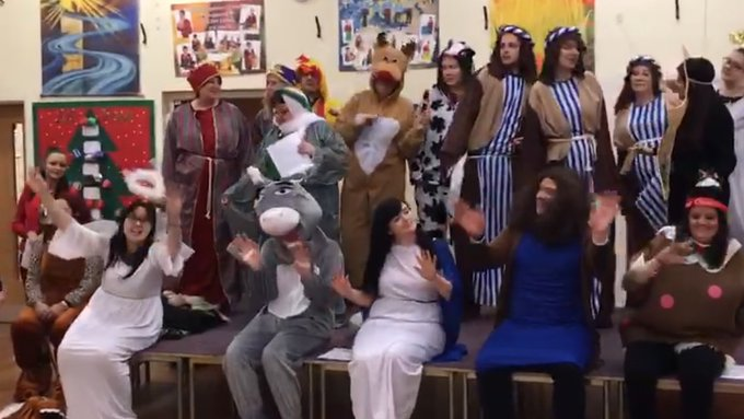 RT @Mrs_Pilling: Well done to our team for an amazing staff nativity! https://t.co/TsnWLMX1rm