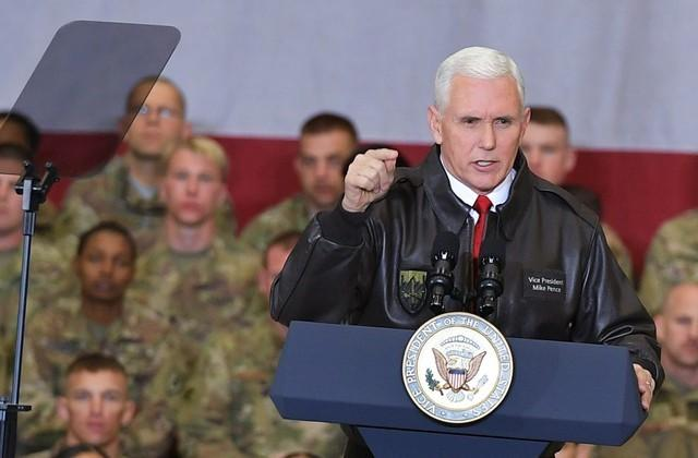 Pence visits Afghanistan, says U.S. will 'see this through'