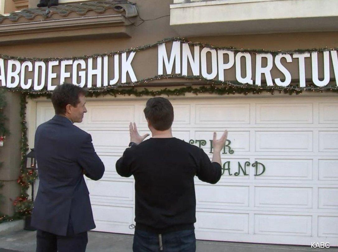 """Winter Punderland"": California family decks their halls in Christmas-themed puns."