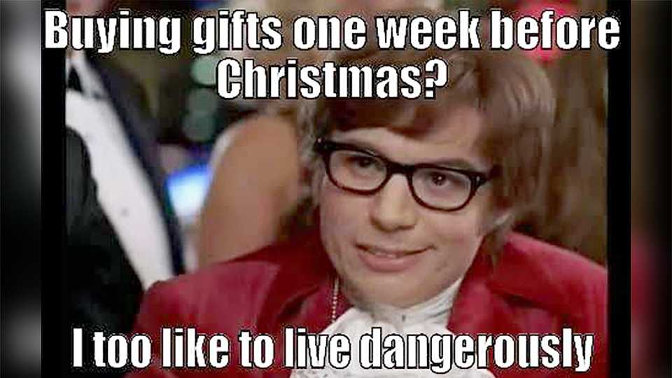 Left all your Christmas shopping til this week? You're not alone...