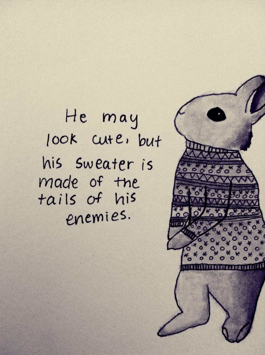 Never ever judge a rabbit by their sweater..  https://t.co/CeCszPK1Ys https://t.co/r1zgnUePhd