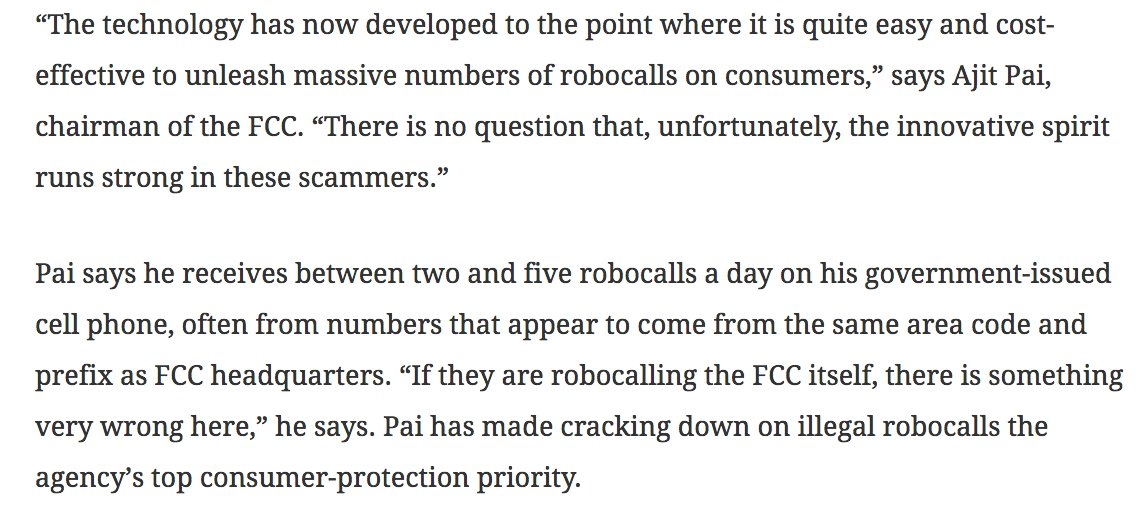 test Twitter Media - .@weeklystandard explores problem of unwanted robocalls (#1 category of consumer complaints to @FCC) and what @FCC, @FTC, and private sector are doing to combat it: https://t.co/tOdZ0QHsi2 https://t.co/tfoR9UCOyz
