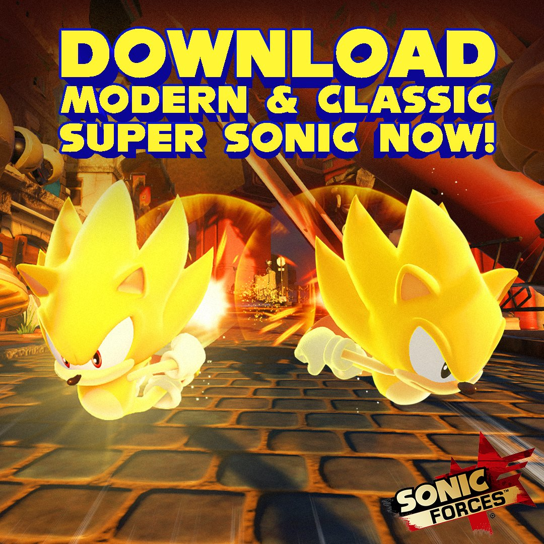 Super Sonic is now free to download in Sonic Forces for the next month! https://t.co/GQK3W6s7oO