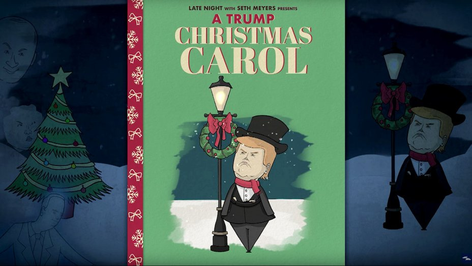 Seth Meyers, Jimmy Fallon tell Trump Christmas tales