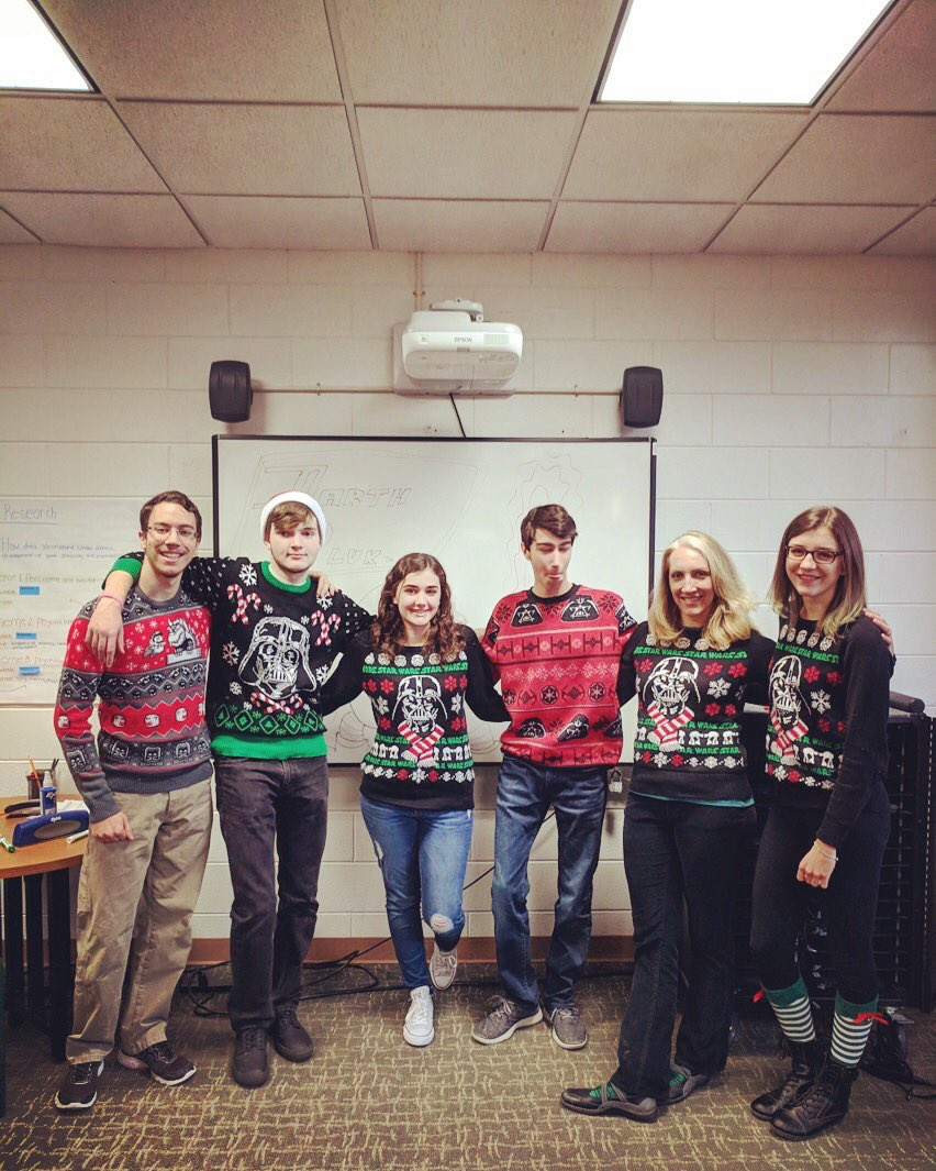 #apresearch students @PatMedHS take #uglysweater day to a new level. The force is strong in this crew. #GoPatMed https://t.co/bE2k6ziM0t