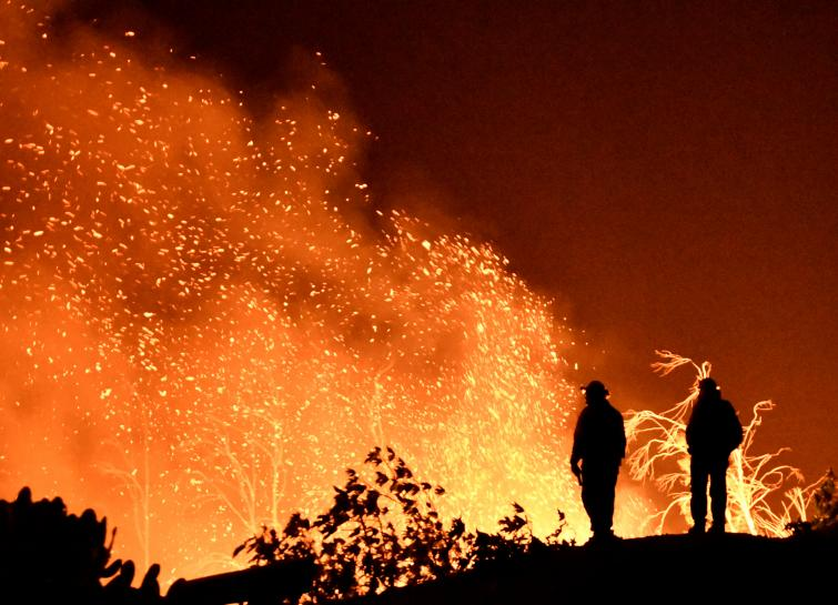 California wildfire becomes largest on record in the state