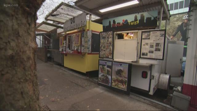 Food cart burglaries baffle downtown Portland business owners