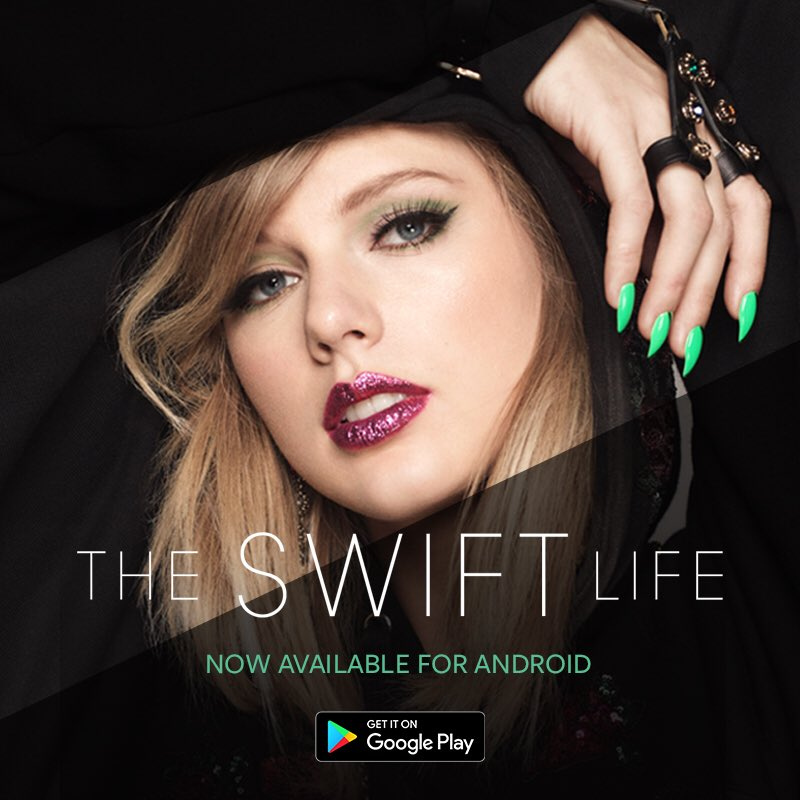 #TheSwiftLife is now available for Android! Get it on Google Play now: https://t.co/qguJHJ3qPL https://t.co/93evBchcNl