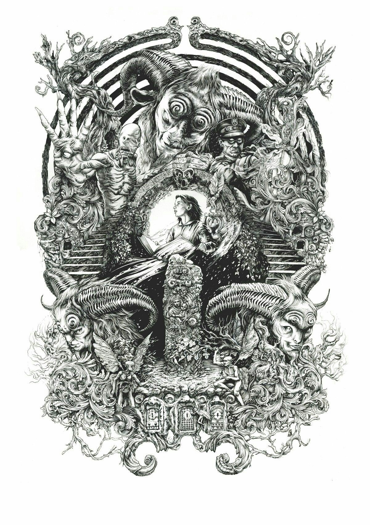 I love it !!! 😍 Pan's Labyrinth directed by @RealGDT  (Artist: DZO) https://t.co/xfraoVxvXY