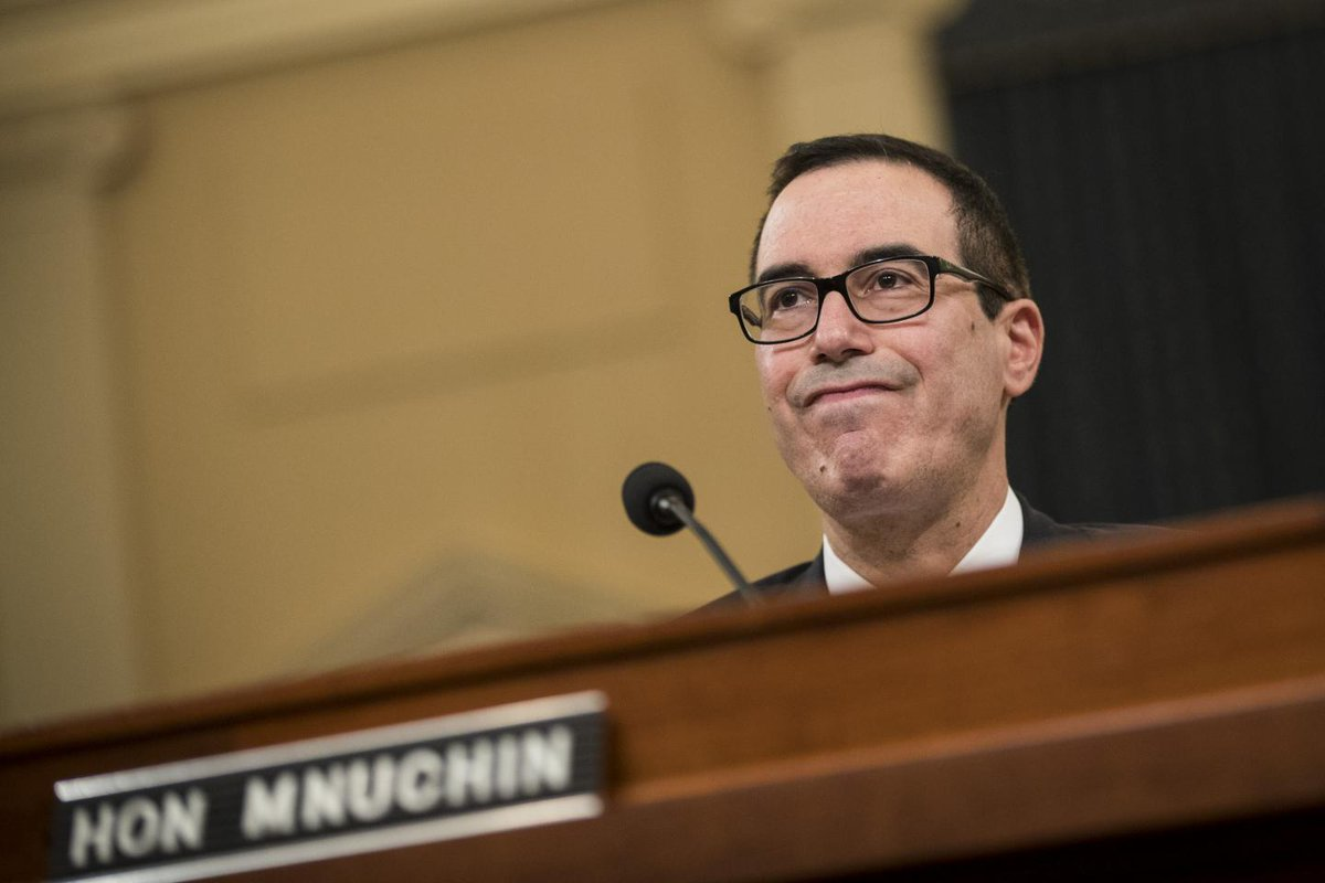 """Steve Mnuchin gets gift-wrapped horse manure for Christmas """"from the American people"""""""