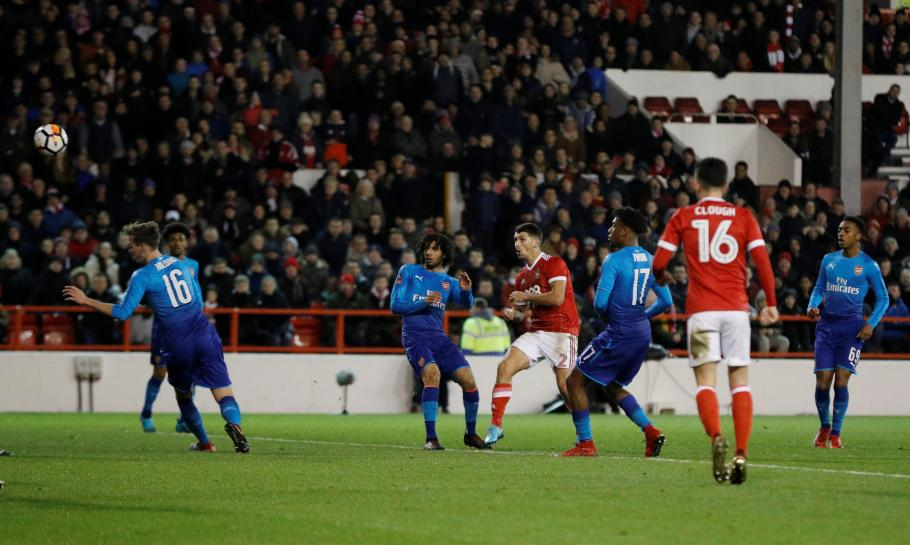 Holders Arsenal crash out of FA Cup to Nottingham Forest