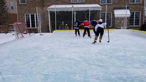 Mason family's backyard ice rink skates away winter woes
