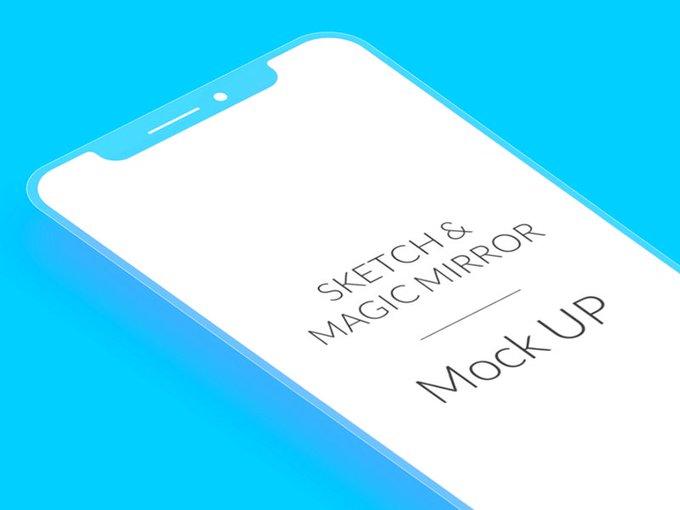 iPhoneX Flat Mockup by JuanManuel_SB freebie