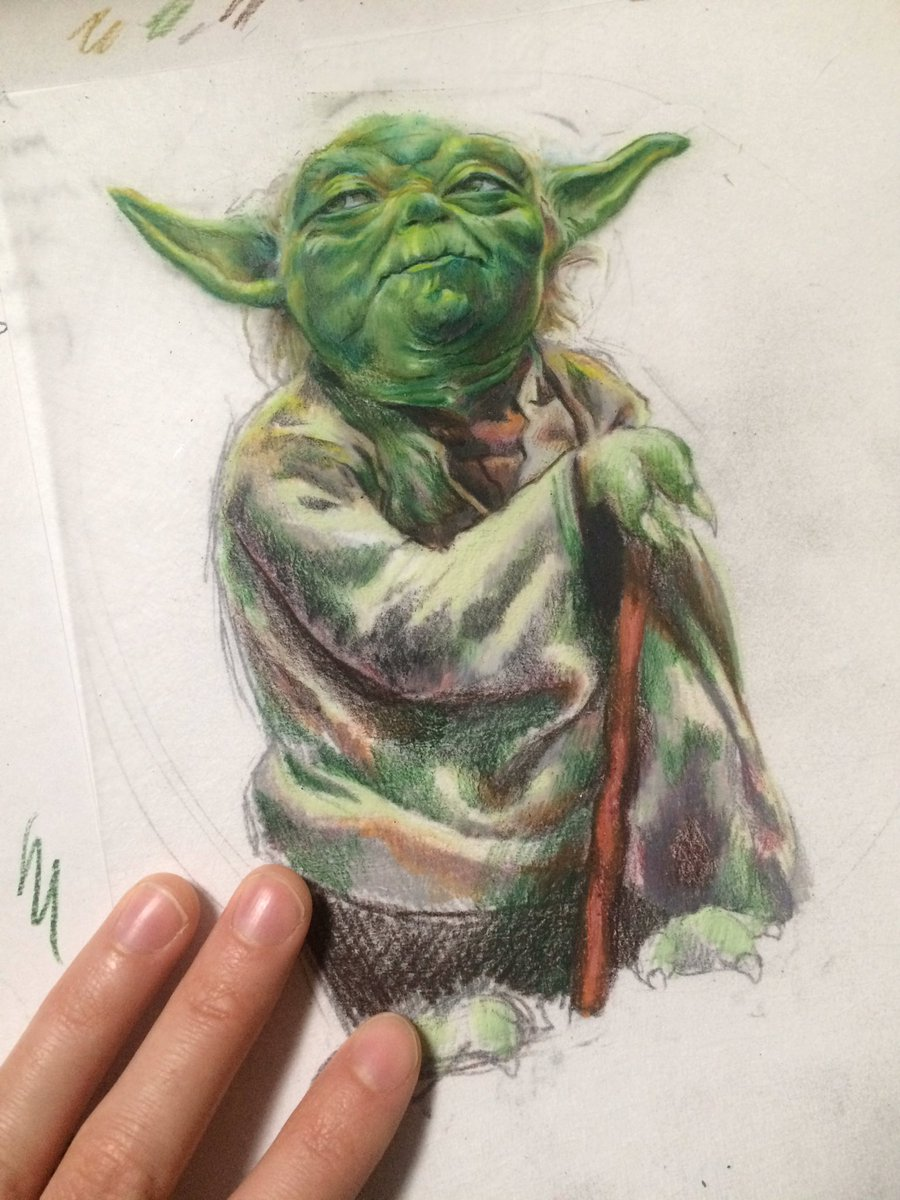 Yoda in progress... I hope he's done in another hour or so. 8I3S4sdK7u