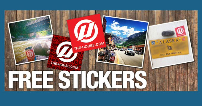 FREE Stickers from The House Boardshop - FREEBIES
