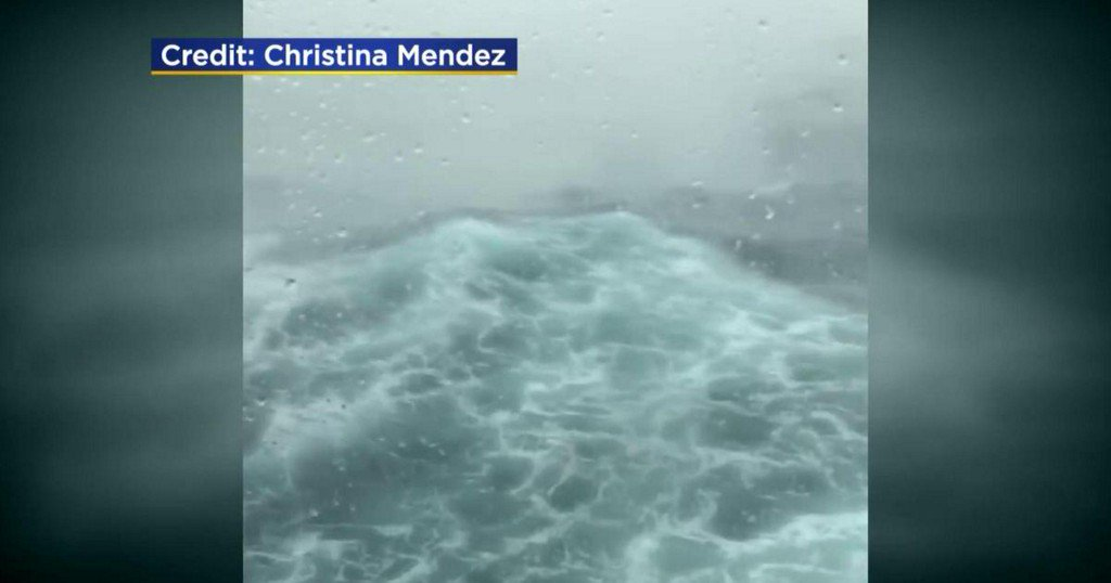 """""""Scariest moment of my life"""": Cruise ship rides through fierce winter storm"""