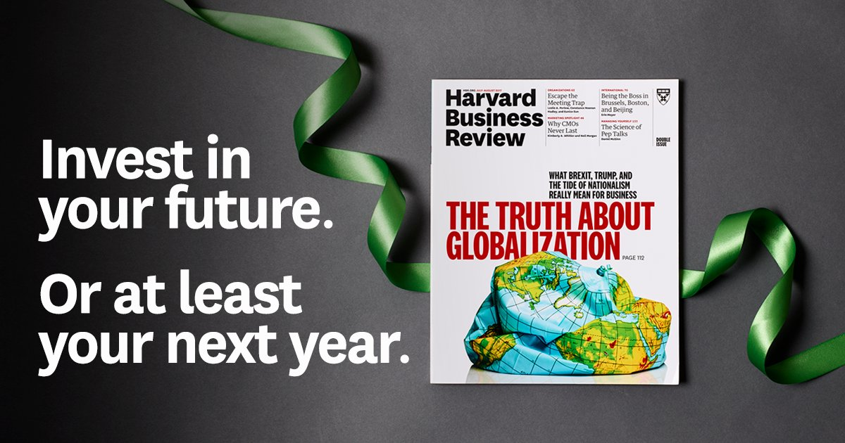 Unlock unlimited access to the latest in career & business - subscribe to HBR today. https://t.co/SlEtapu4cg https://t.co/x9obJIM97W