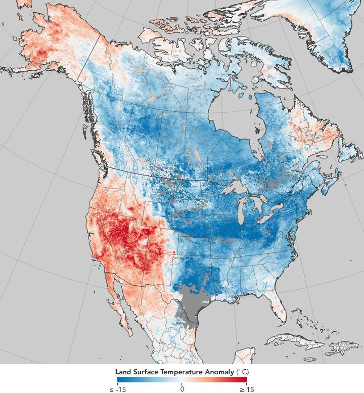 NASA map shows just how drastically U.S. weather has changed in the past eight years