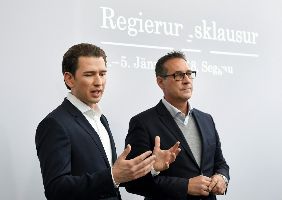 Austria's far-right vice-chancellor backs down from plan to put refugees under curfew