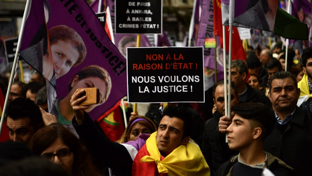 Five years on, Kurds march in Paris to demand justice for slain activists