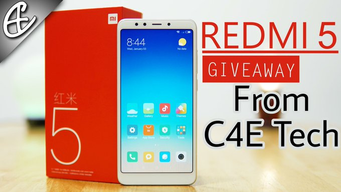 Redmi 5 International Giveaway!