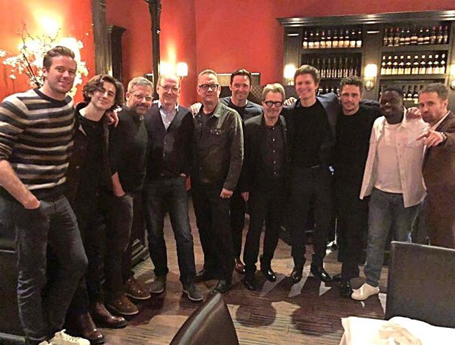 Awesome dinner with these extraordinarily talented men.  Thank you #JamesFranco for hosting. @goldenglobes #HFPA https://t.co/E7wysdvAoT
