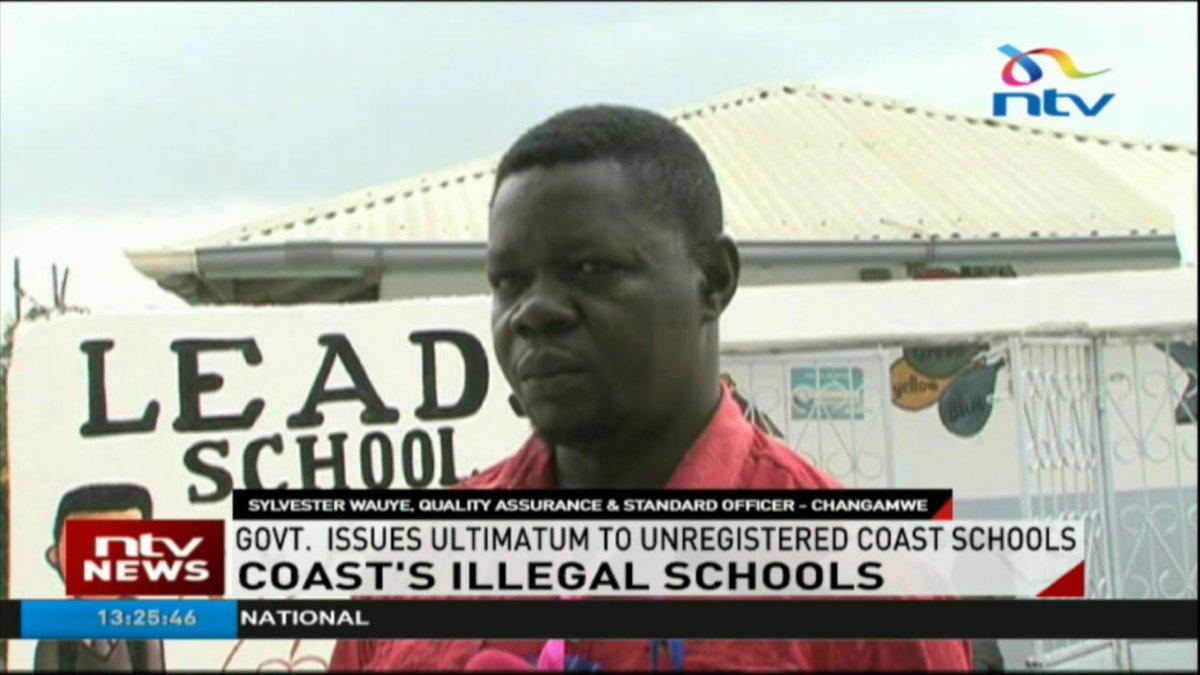 Government issues ultimatum to unregistered Coast schools