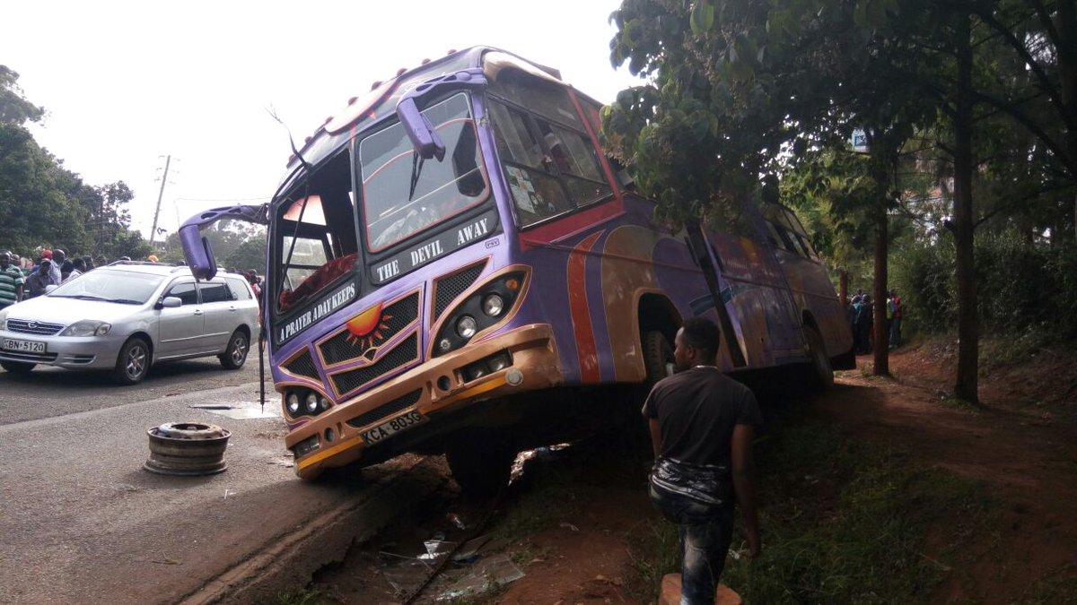 30 injured after bus overturns in Westlands