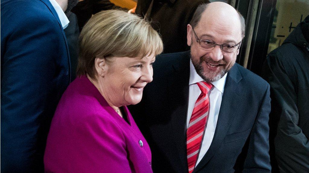 'A sense of international responsibility drives the coalition talks'