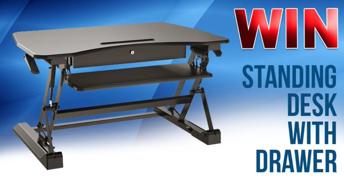 Win Sit and Stand Desk with Drawer Contest January 2018