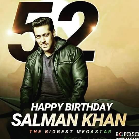 I wish you very very Happy Birthday Salman Khan Salman Khan you are my superstar hero