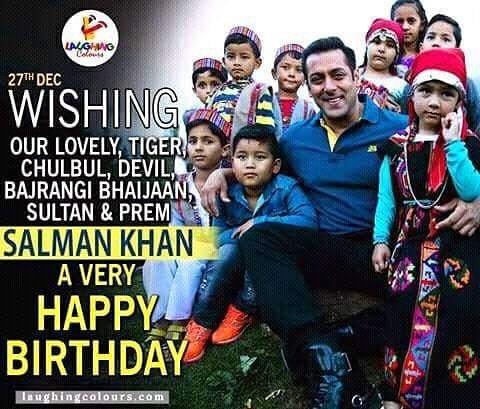 "Wishing Bollywood \""Dabangg Salman Khan \"" A very happy birthday....."
