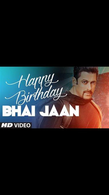 Happy birthday Salman khan........