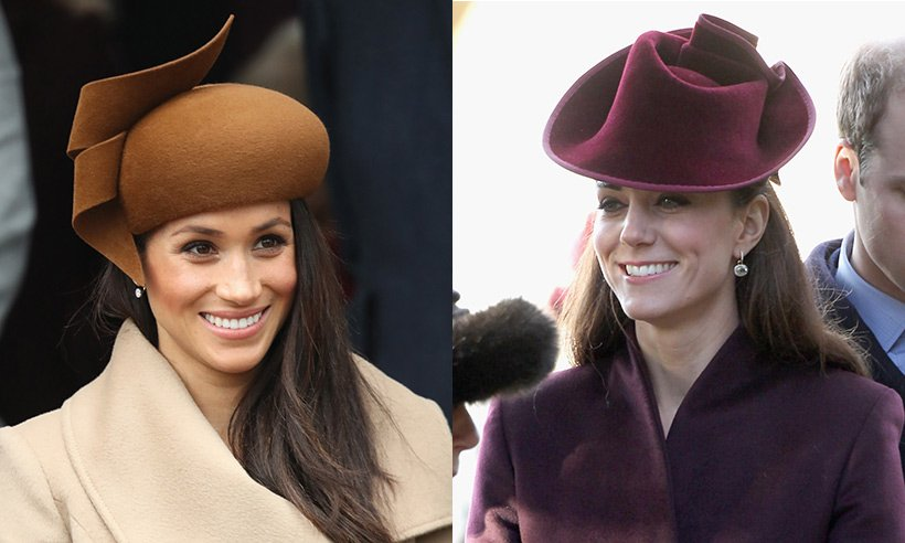 Take a look at Duchess Kate and Meghan Markle's first royal Christmas outfits compared!