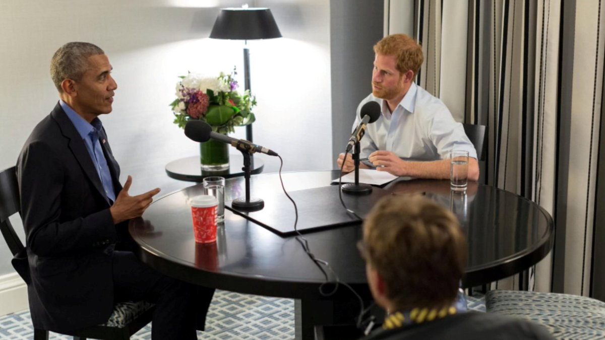 Listen to audio from Prince Harry's interview with former President Obama: