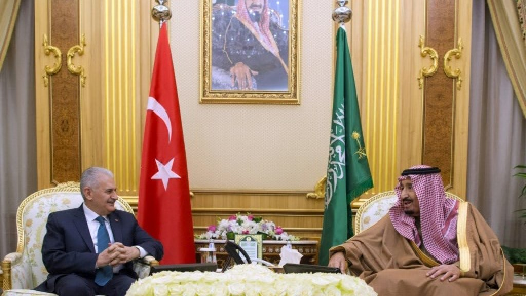 Saudi king, Turkey PM discuss Jerusalem status at talks