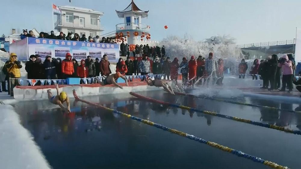 Winter swimming competition