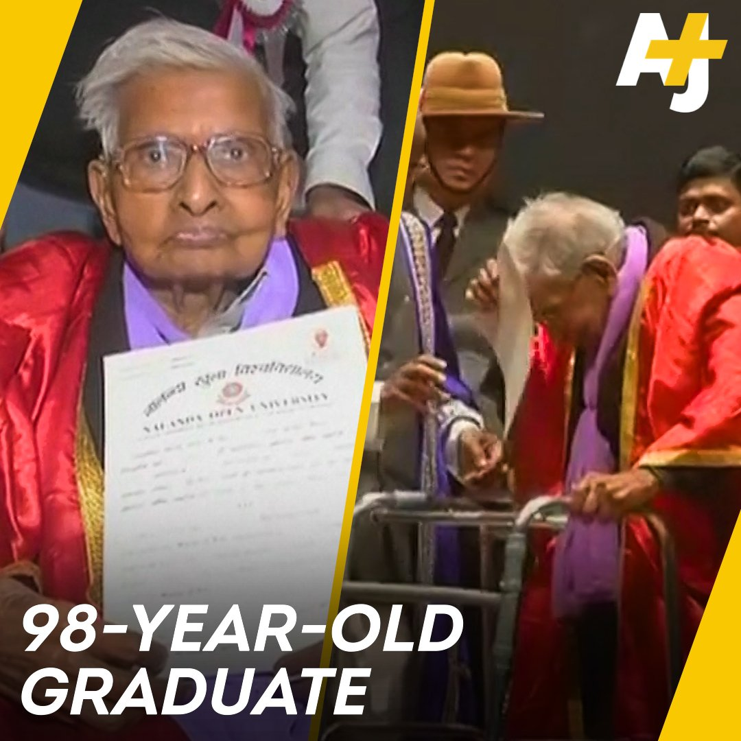 RT @ajplus: It's never too late to pursue your dreams, as this nonagenarian graduate demonstrates. https://t.co/hAf5uC8Idz