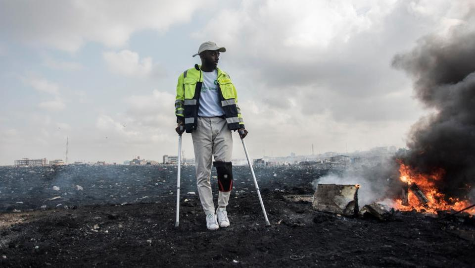 Photos: A Ghanaian artist's project to turn toxic e-waste into art