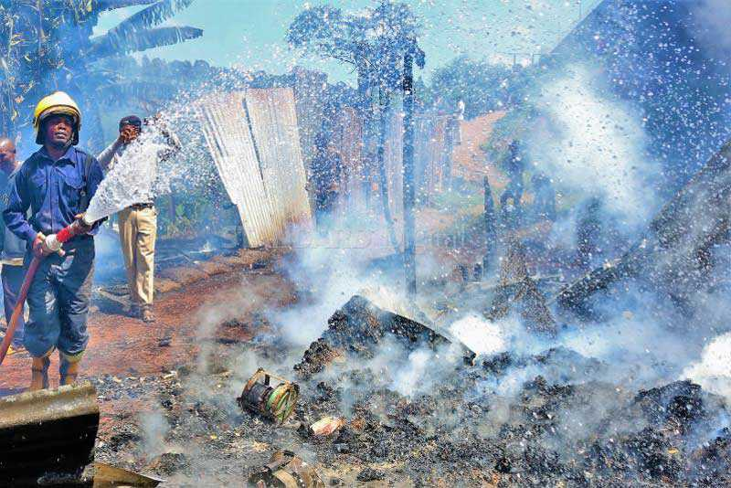 Child dies, two hurt as fire guts houses in Nyeri town