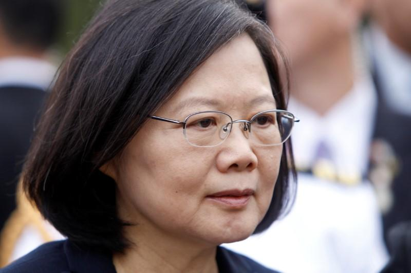 Taiwan president says China military causing regional instability