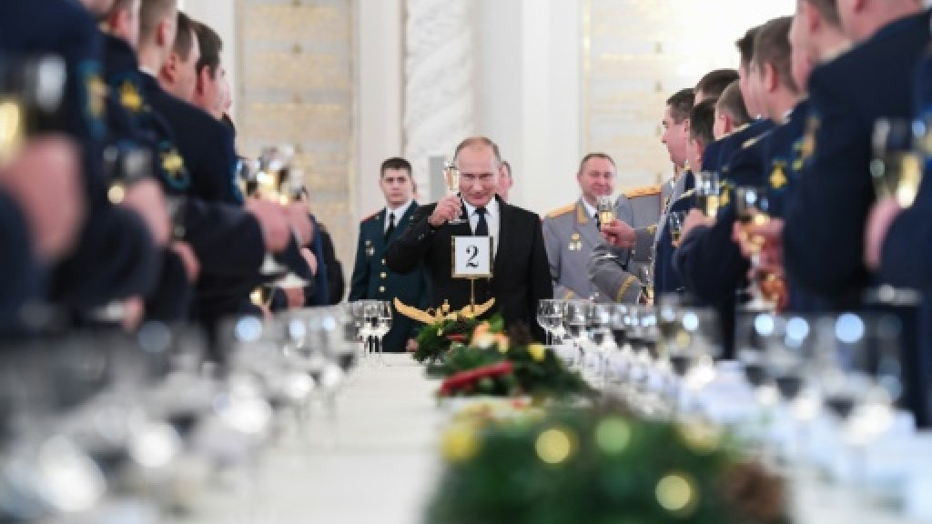 Putin extols Russia's 'principal' role in defeating IS