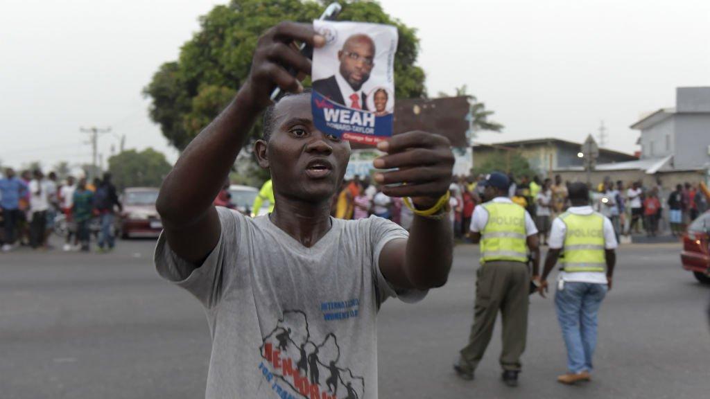 Former football star George Weah wins Liberian presidential run-off