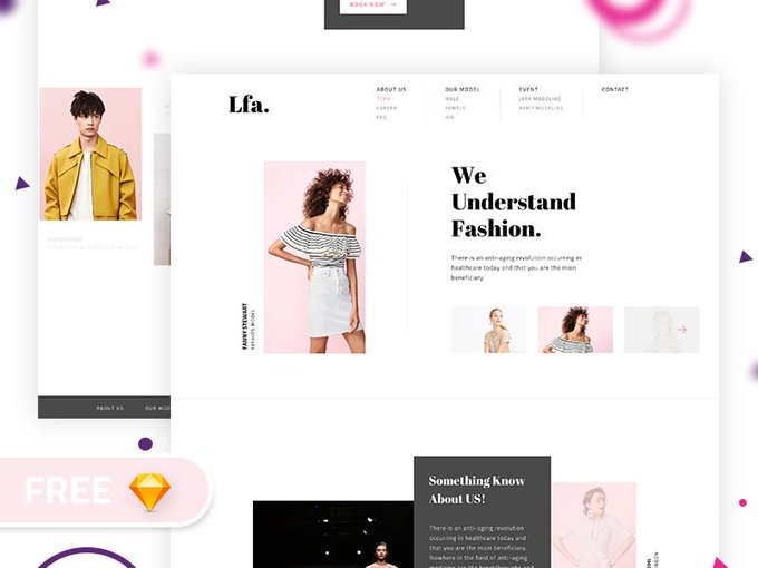 Fashion Agency Web  by Abdullah Un Noman freebie
