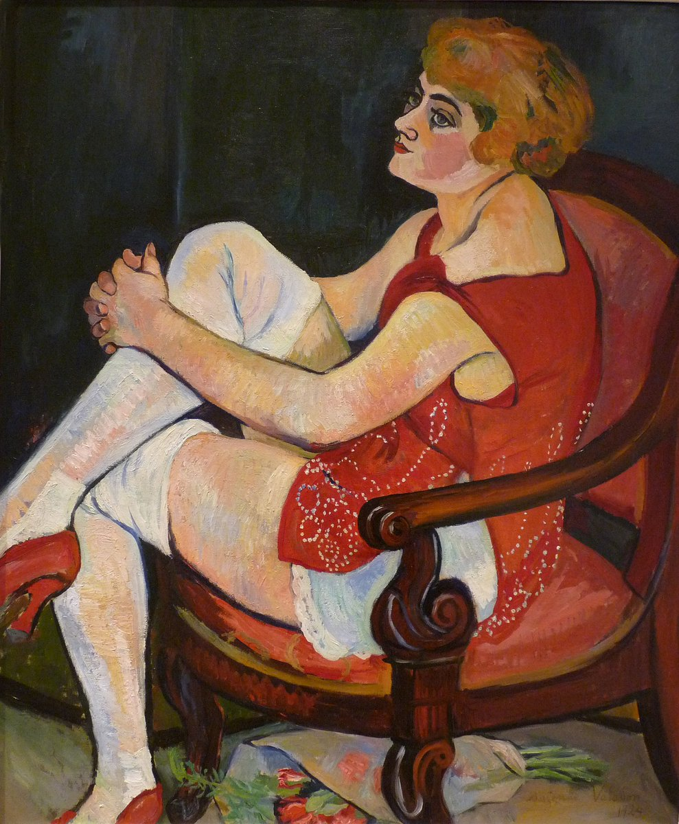 Donna in calze bianche 1924   Suzanne Vallotton  | @scastaldi9 RT @VintageArtCafe https://t.co/QrAuUxSqpk