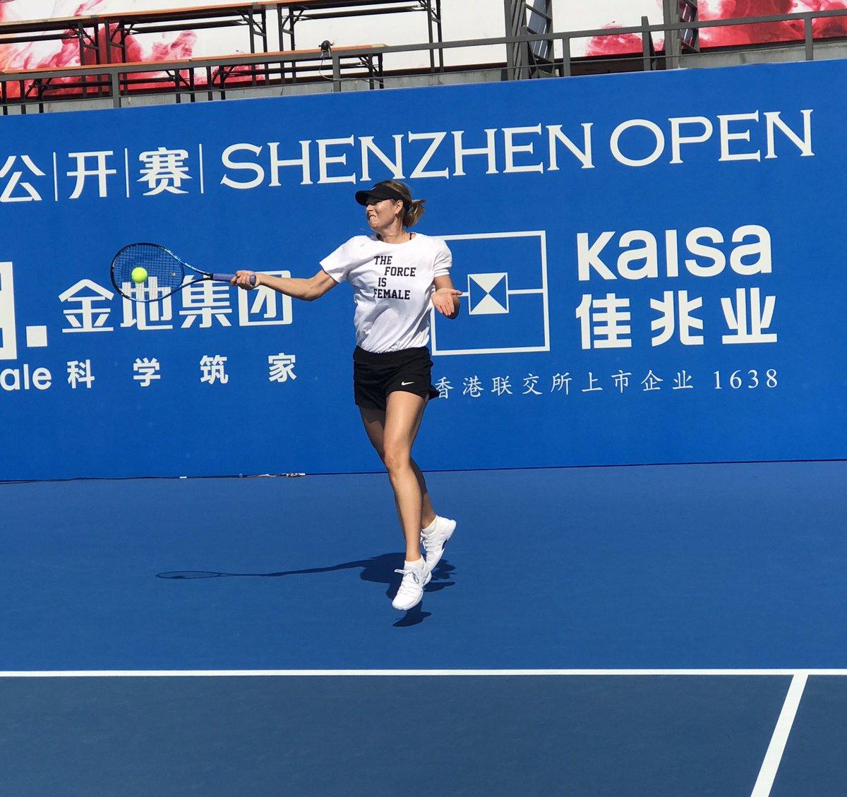 First practice in Shenzhen.... Hey #SharaFamilyChina ???????????????? https://t.co/dYZDwWVylL