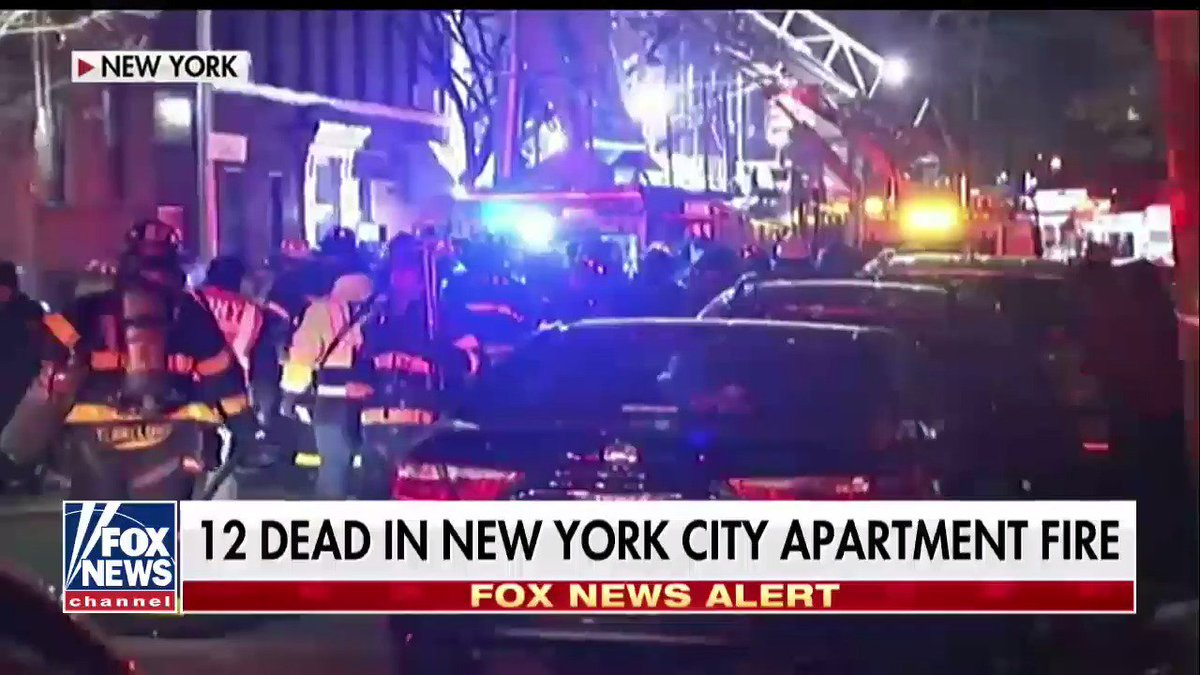 At least 12 dead, including four children, in New York City apartment fire