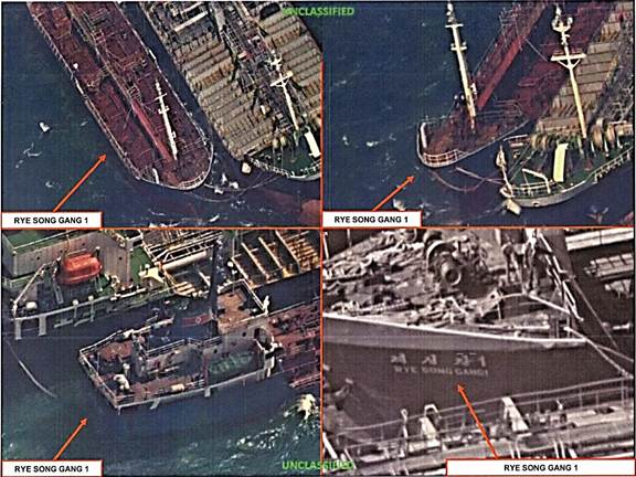 Chinese ships have been spotted illegally selling oil to North Korea