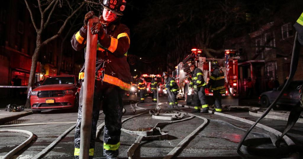 New York City fire kills 12 and sends victims outside in dangerously cold temperatures