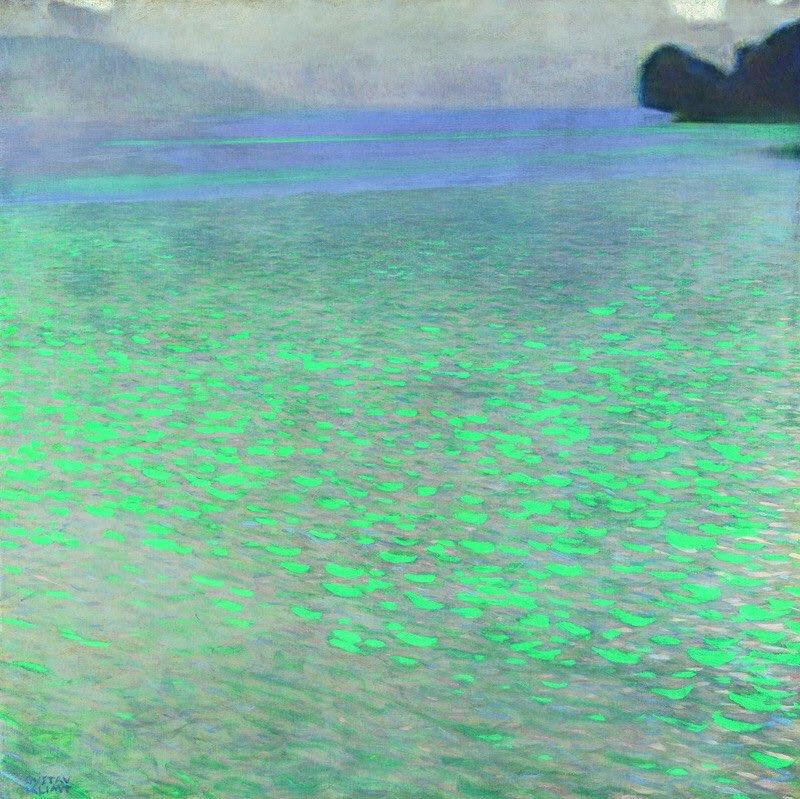 "Gustav Klimt  Sul lago Attersee ""On lake Attersee"" (1900).  - Leopold museum,Vienna - https://t.co/K9rVhXKzXS"